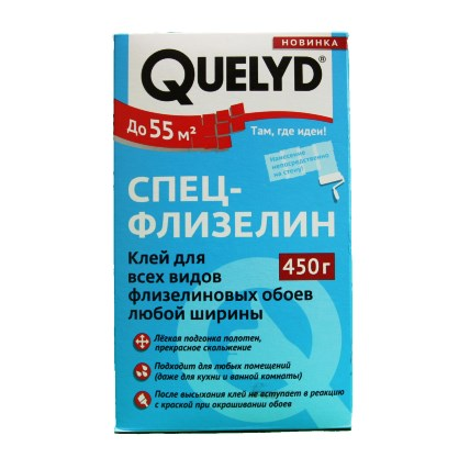 QUELYD Клей обойный Спец-Флизелин 450гр (15)